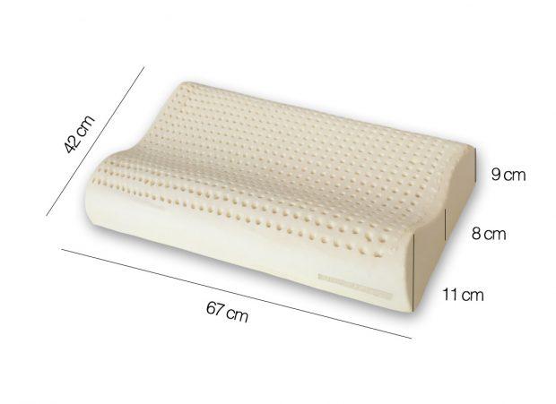 Cuscino-Lattice-Naturale-doppia-onda misure - Marcapiuma