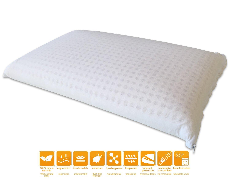Cuscino in Lattice Naturale modello Natural con foderina in cotone sfoderabile