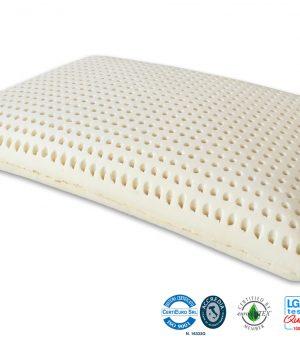 Oreiller 100% Latex Savon Certificat Marcapiuma ISO 9001
