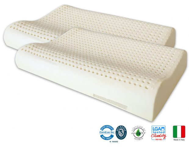Almohadas Látex Natural Ondulado Marcapiuma Made In Italy