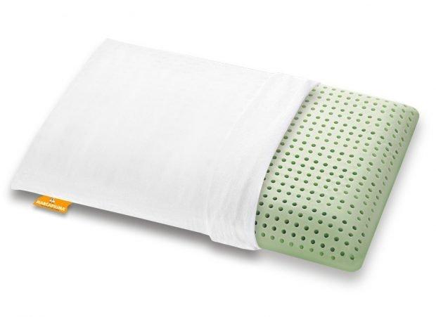 Cuscino in Memory modello Bio Green con cerniera e foderina in Cotone - Marcapiuma