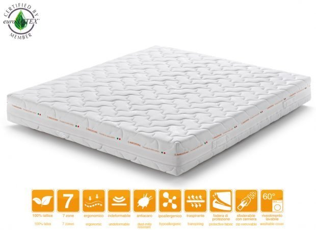 Materasso Lattice 7 Zone.Latex Mattress Sevenlife 20 Marcapiuma