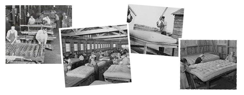 Storia del materasso Azienda Marcapiuma