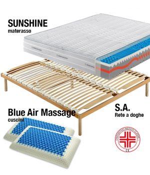 Sistema Letto Materasso Sunshine-Rete-Cuscini - Marcapiuma