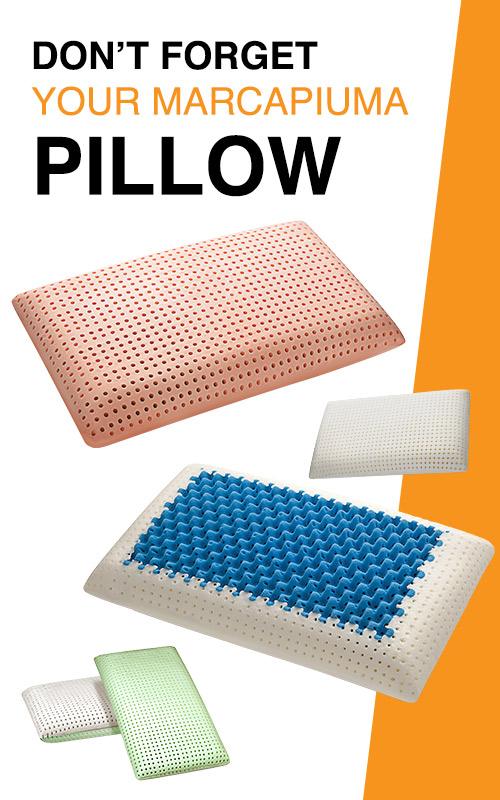 Don't forget your Marcapiuma Pillow