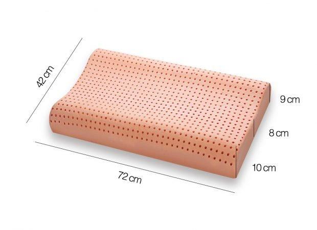 Cuscino Memory modello BIO CLEAN doppia onda Misure - Marcapiuma