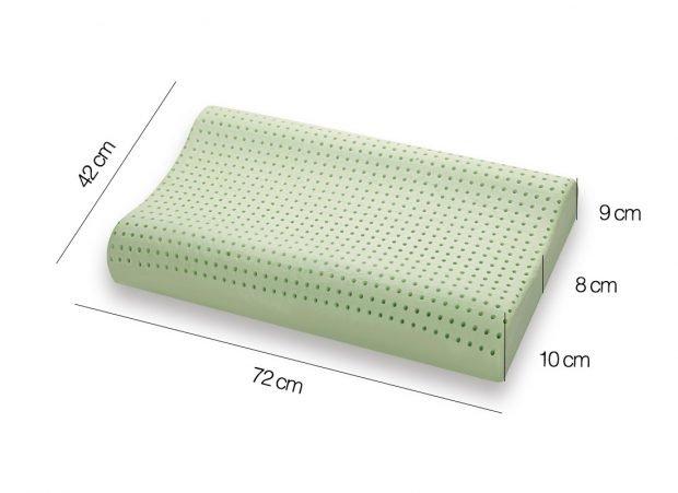 Cuscino Memory modello BIO GREEN doppia onda Misure - Marcapiuma