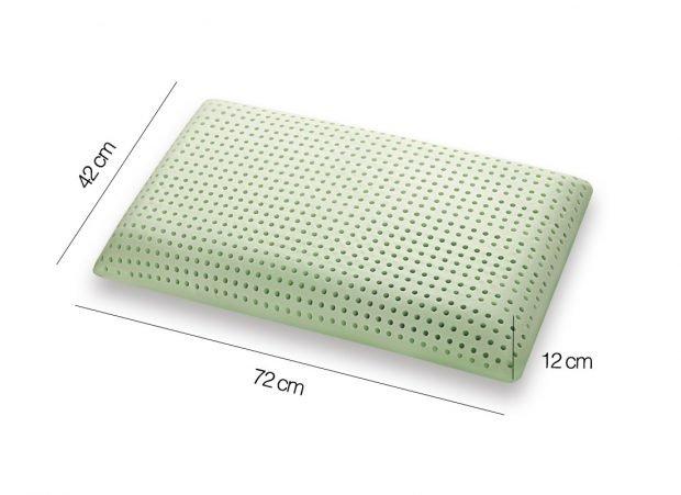 Cuscino in Memory modello Bio Green saponetta - Marcapiuma