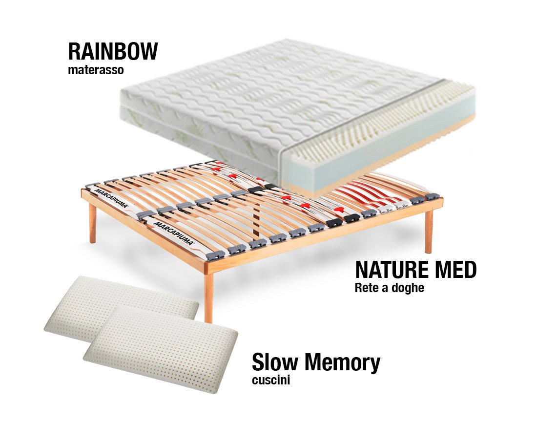 Sistema Letto Rainbow In Memory Foam Marcapiuma