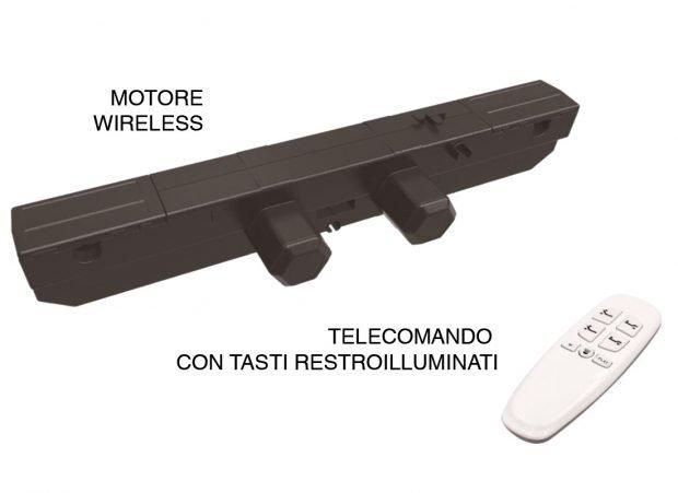 Motore wireless con telecomando retroilluminato - Marcapiuma