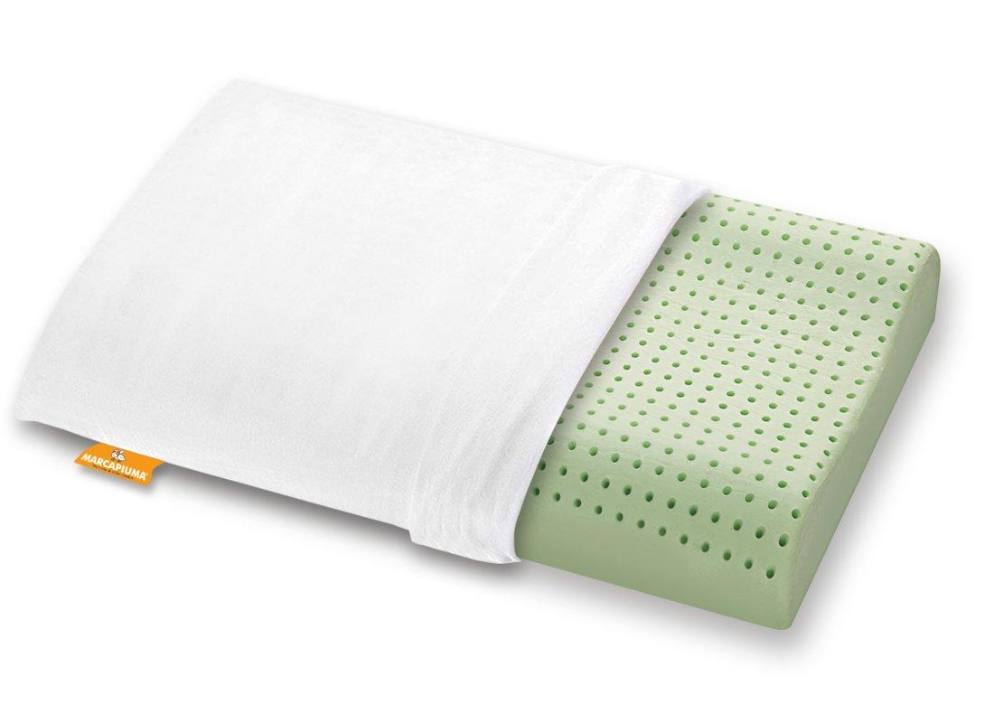 Cuscino in Memory modello Bio Green ONDA Zip Cotone - Marcapiuma