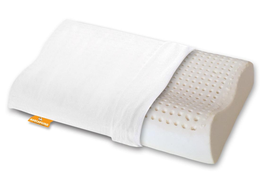 Cuscino in Lattice modello ECO doppia onda con foderina in Cotone - Marcapiuma